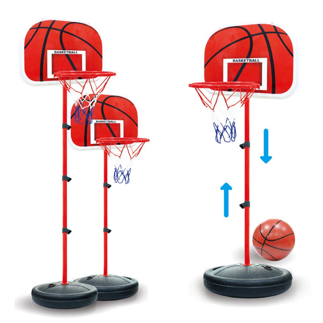 LDB SHOP 63-150 Cm Ajustable aro de Baloncesto ni/ño Tablero Baloncesto Canasta Baloncesto Infantil