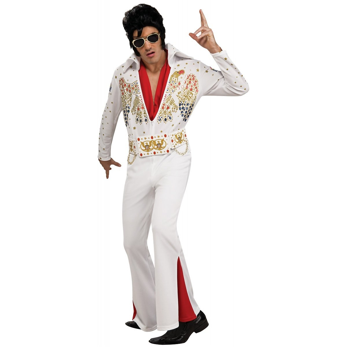 Adult Deluxe Elvis Presley Halloween Costume (XL) by Rubie's Costume Co