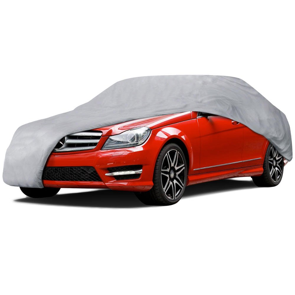 Water Proof Motor Trend OC-342 Auto Armor All Weather Universal Fit Car Cover with Lock-UV Gray Fits up to 170-Inch