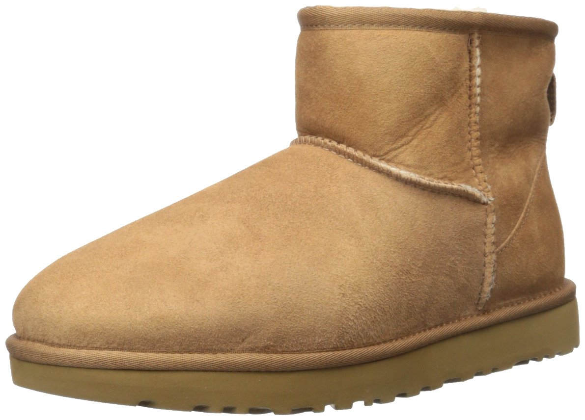 UGG Women's Classic Mini II Winter Boot, Chestnut, 8 B US