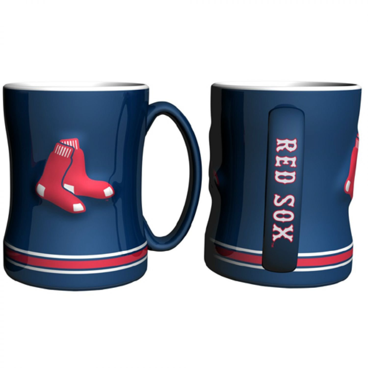 MLB Boston Red Sox Sculpted Relief Mug, 14-ounce