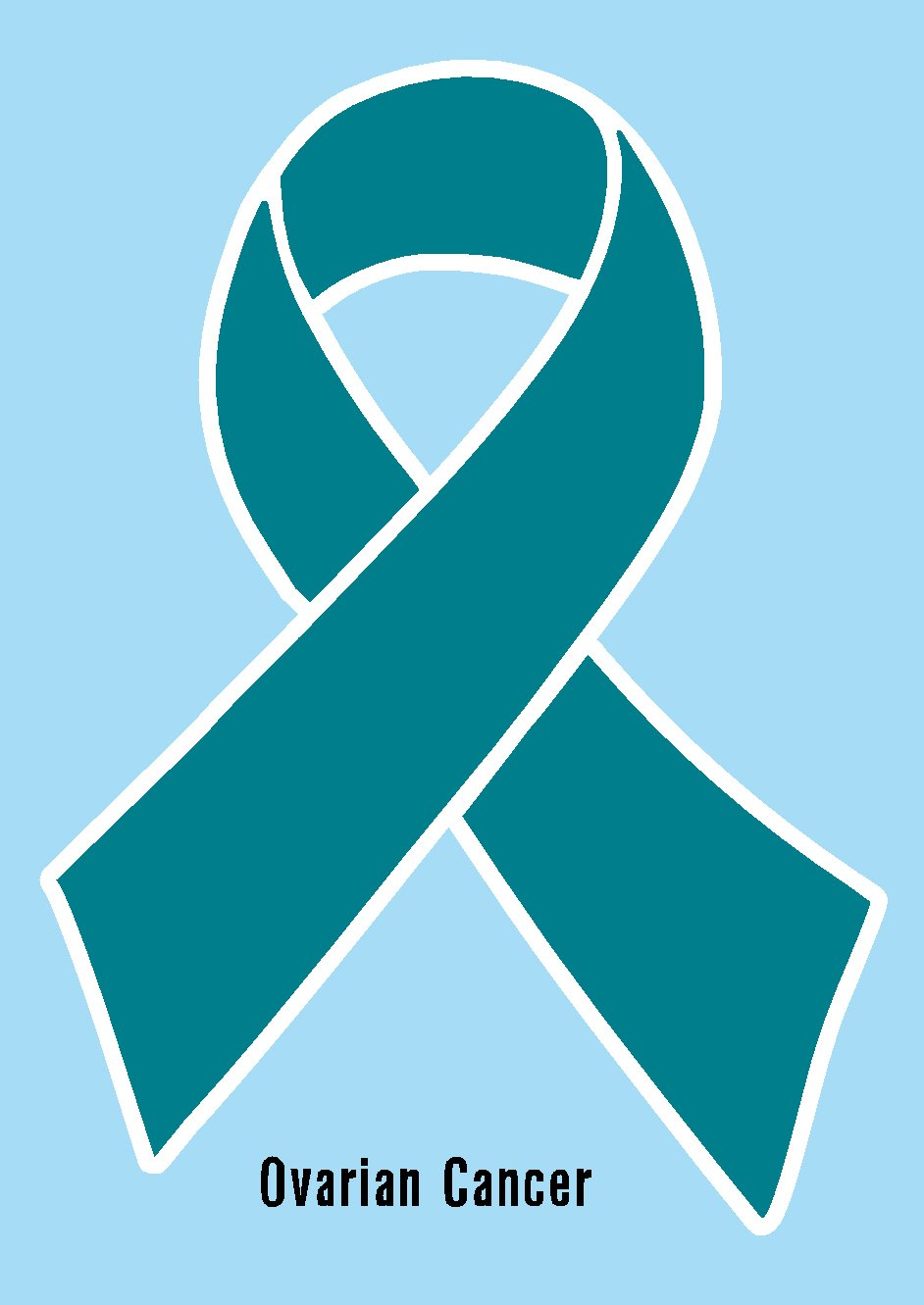 Amazon ovarian cancer ribbon teal printed vinyl decal amazon ovarian cancer ribbon teal printed vinyl decal sticker label for car cell phone window computer ipad iphone wall etc biocorpaavc