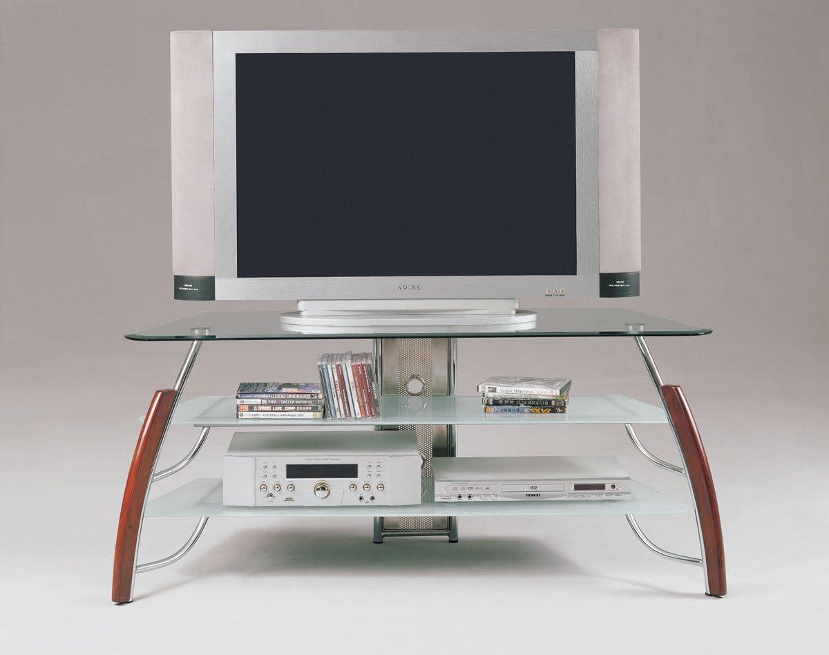Acme 0 Martini TV Stand, Cherry Chrome Finish