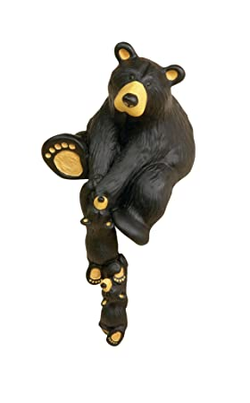 DEMDACO Helping Paw Momma Black Bear 10 x 5 Hand-cast Resin Shelf Sitter Figurine