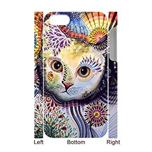 Cell phone 3D Bumper Plastic Case Of Cat For iPhone 5C