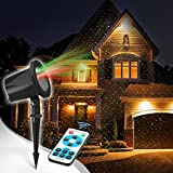 #9: Christmas Laser Light, innooLight Christmas Star Shower Laser Light, 12 in 1 Patterns, Waterproof Red and Green Stars Light with Timer Preset and RF Wireless Remote, Aluminum for Hoilday and Party