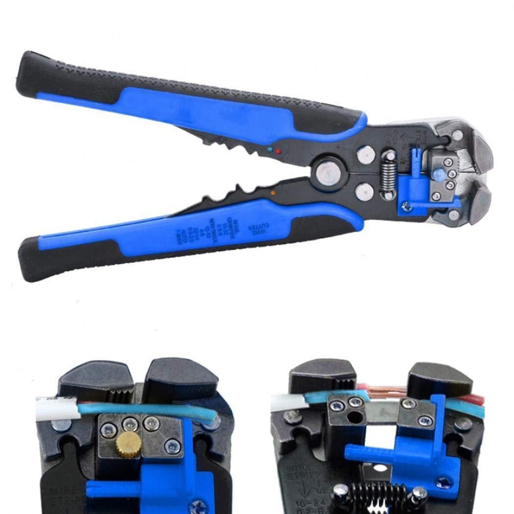 0,5-6,0 mm Wekold Abisolierzange Crimpzange Automatische Drahtschneider aus Stahl Multitool Schneidwerkzeuge zum Abisolieren Schneiden und Crimpen Kabel-Querschnitt 22-10AWG