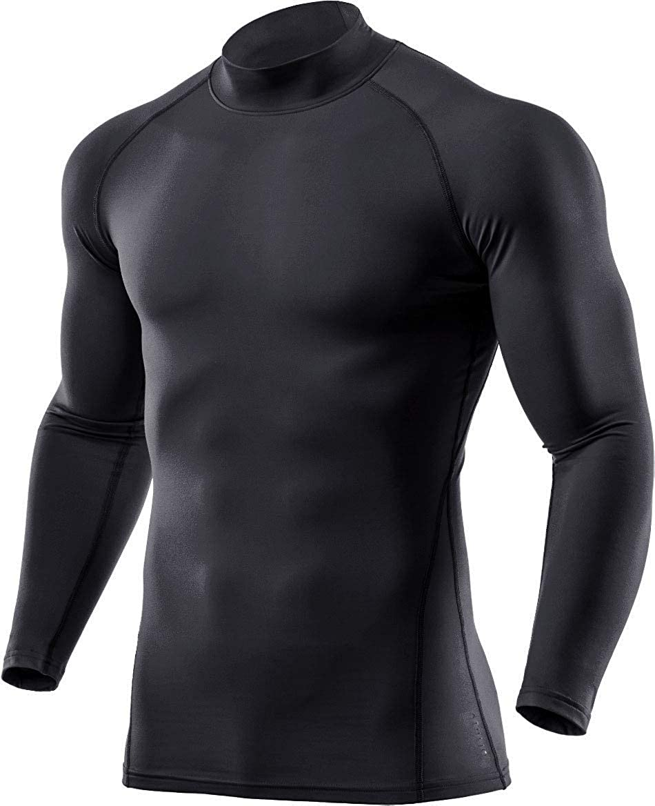 ATHLIO 1 or 3 Pack Men's Thermal Long Sleeve Compression Shirts, Mock Winter Sports Base Layer Top, Active Running Shirt