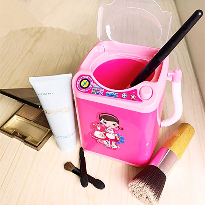 HUYURI Makeup Brush Cleaner Device Automatic Cleaning Washing Machine Mini Toy Black