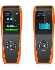 LKC-1000S+ - Detector de aire para interiores con monitor de temperatura y humedad profesional, pruebas precisas de formaldebyde con PM2,5/PM10/HCHO/AQI/partículas/curva de grabación