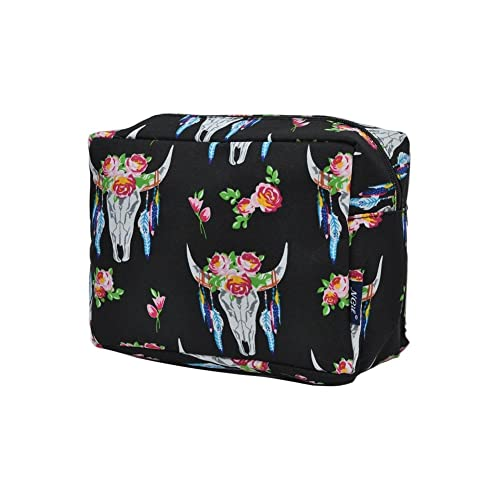bac4209d26 NGIL Large Travel Cosmetic Pouch Bag Spring 2018 Collection (Bull Skull  Black)