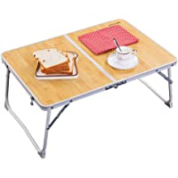 Foldable Laptop Table, Superjare Bed Desk, Breakfast Serving Bed Tray, Portable Mini Picnic Table & Ultra Lightweight…