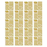 """Yellow and White 3D Ceramic Tile Stickers 20 Pieces,Abstract Bird in Scandinavian Folkloric Style Retro Design Floral Motif Decorative for Living Room Kitchen,7.8"""" L x 7.8"""" W"""