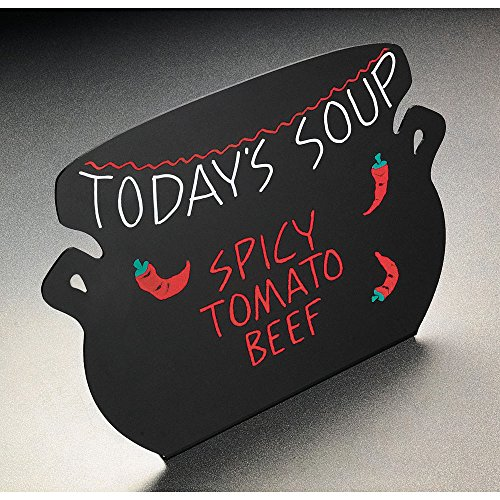 (Soup Kettle Write-On Black Markerboard Sign 12.5