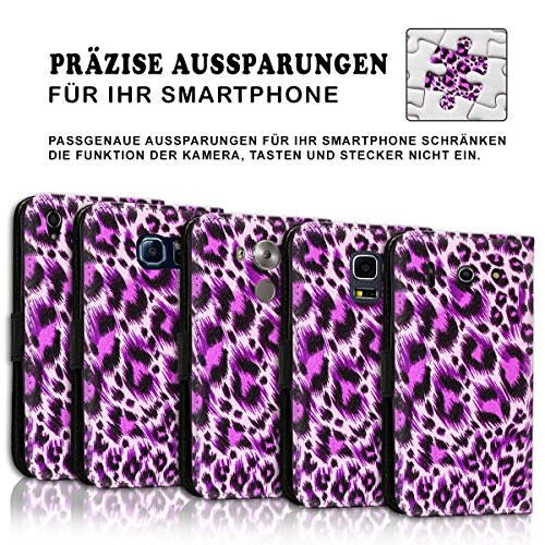 Wallet Book Style Flip Handy Tasche Case Schutz Hülle Schale Motiv Etui für Apple iPhone 4 / 4S - Design Flip MVD65