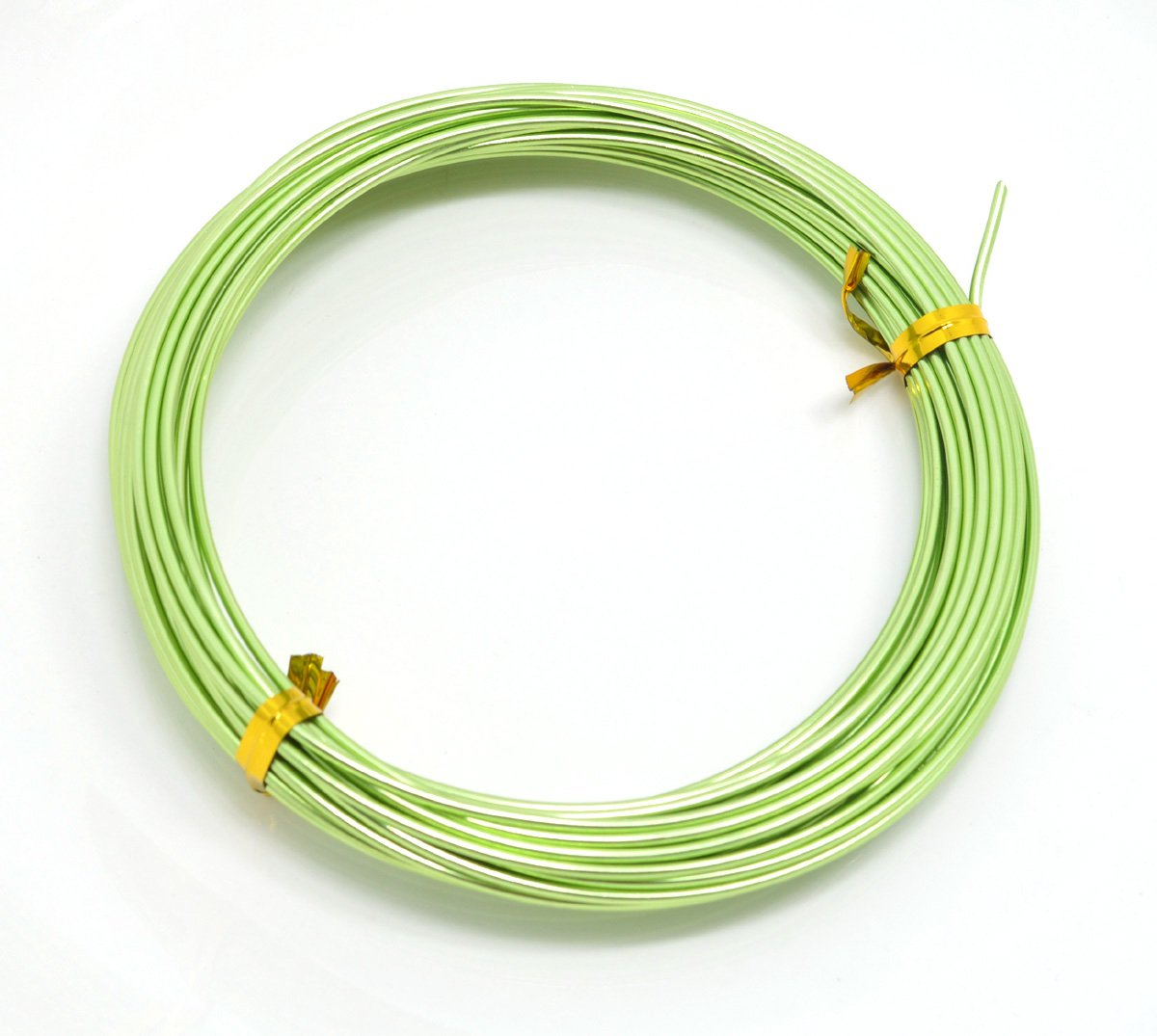 TD CRAFTS 0.8mm x 10 Metres Aluminium Craft Wire Jewellery Modelling Florist Wire Findings GRASS GREEN