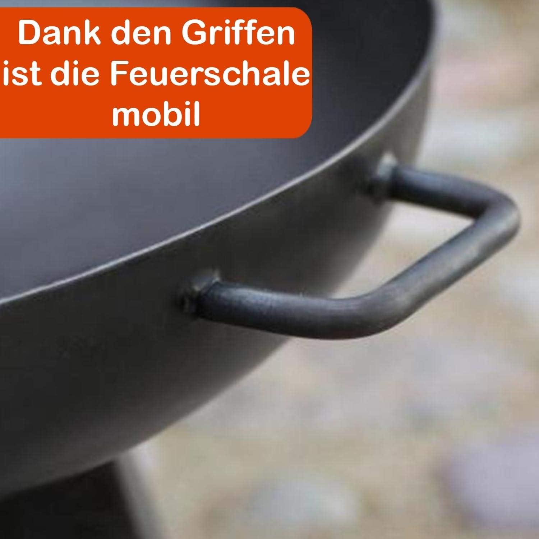 decorwelt Feuerschale 60cm Gartenfeuerstelle Kl/öpperboden Feuerkorb Pflanzschale Terrasse