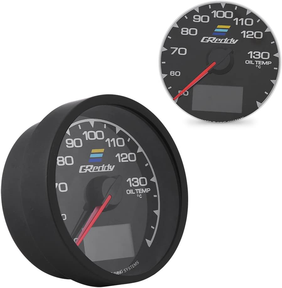 Qiilu Manom/ètre Turbo Boost Gauge de Voiture Manom/ètre Turbo Boost Jauge de suralimentation pour voitures de course universelle