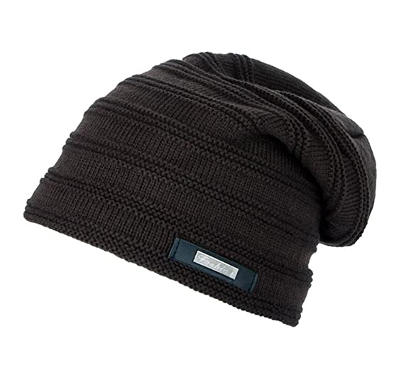 20b49fb8bc2 Fengtre Men s Wool Knit Winter Stretch Bonnet With Thicker Fur Fleece Warm  Skully Beanies Hat Cap
