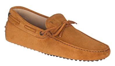 6354e508839 Tod's Men's Brandy Brown Suede Pebbled Gommino Driving Moccasin Loafer Shoes,  Brandy, ...