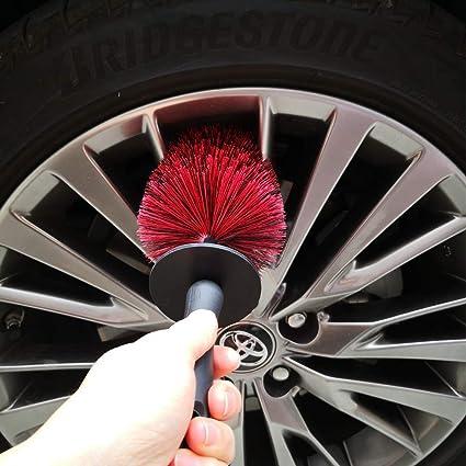 Lucklyjone Felgenbürste Felgenreiniger 46cm Zur Effektiven Felgenreinigung Extra Lange Felgenreinigungsbürste Für Alufelgen Chromfelgen Felgenreinigungsbürste Zur Perfekten Autopflege Auto