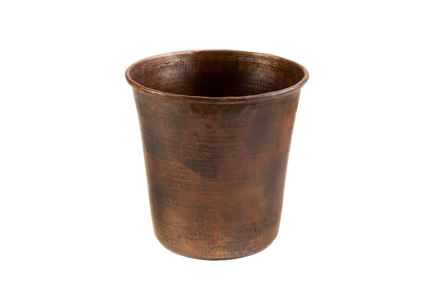 Premier Copper Products TC11DB Hand Hammered Copper Trash Can, Oil Rubbed Bronze