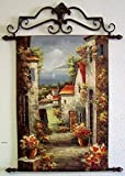 Woffar Art Oil Painting on Canvas Tapestry with Metal Rod 24'' x 36''