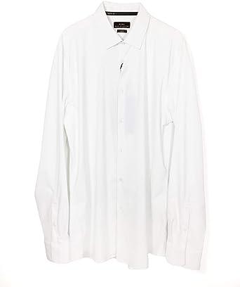 Zara - Camisa Casual - para Hombre Blanco S: Amazon.es: Ropa y accesorios