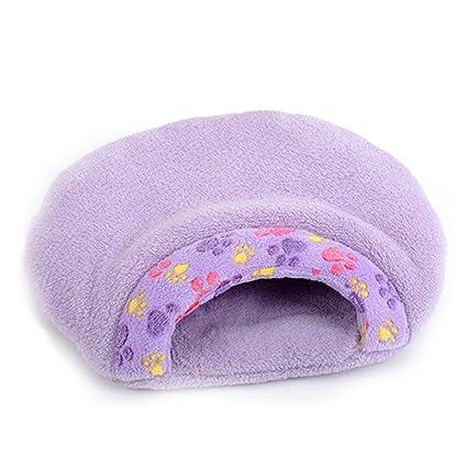 Saco de Dormir púrpura del Nido del Animal doméstico Cuatro Estaciones Universal Cerrado pequeño Terciopelo Gato