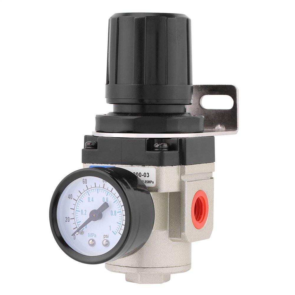 1pc Pneumatic Pressure Regulator Valve 1Mpa High Pressure Pressure Gauge Air Pneumatic Regulator G3//8 Thread with Holder