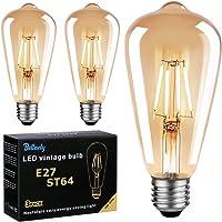 Bombillas Vintage E27 LED, Bombilla Filamento LED ST64 4W Equivalente a 40W,…