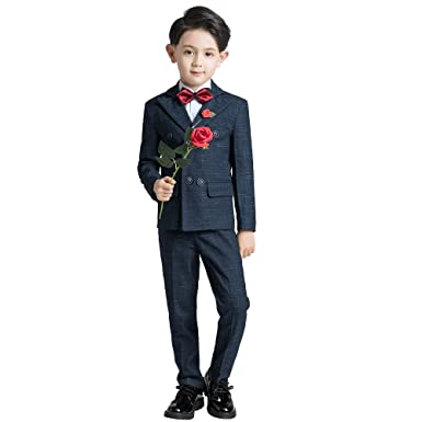 Amazon.com: Yuanlu Boys Formal Tuxedos Toddler Kids Suits with ...