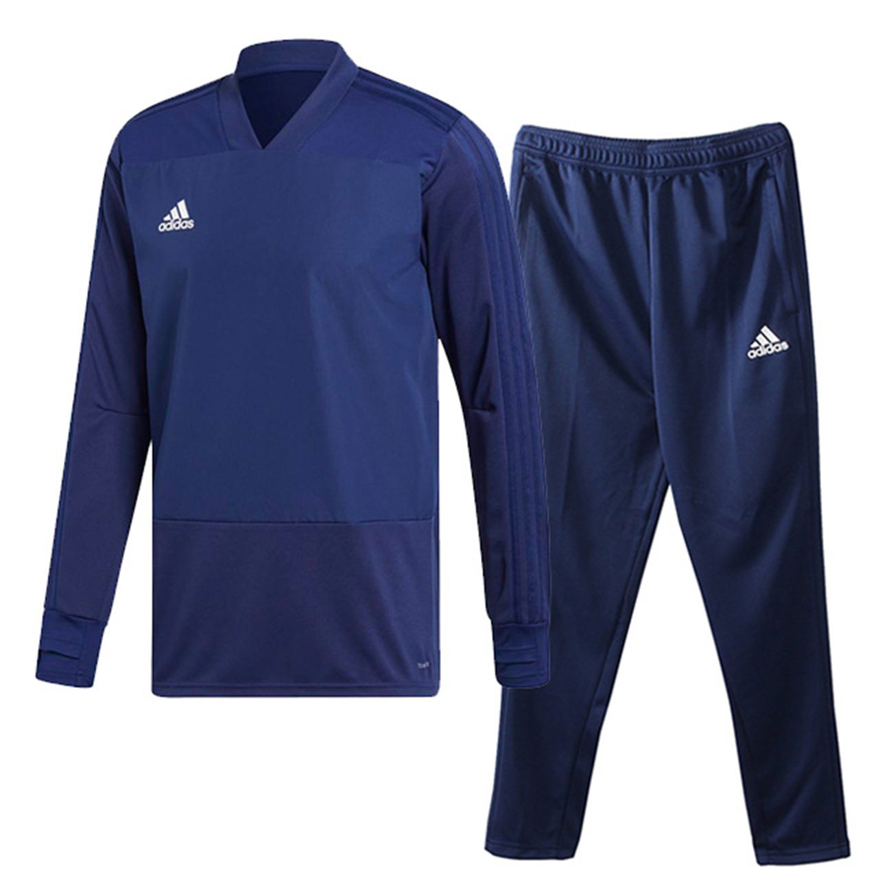 アディダス(adidas) CONDIVO18 トレーニングウエア 上下セット(ダークブルー/ダークブルー) DJV18-CG0386-DJU99-CV8243 B07986SRV3 日本 J/L-(日本サイズL相当)|ダークブルー×ダークブルー ダークブルー×ダークブルー 日本 J/L-(日本サイズL相当)