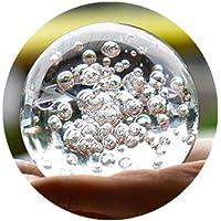 Crystal Glass Marbles Fuente de agua burbuja pelota Feng Shui bolas de vidrio decorativas La Casa Interior Fuente de agua cifras 6cm