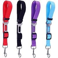Thursday April 4 Pcs Cinturon Perro Coche Correa Ajustables Cinturón de Seguridad para Perros y Gatos Cables de Arnés…