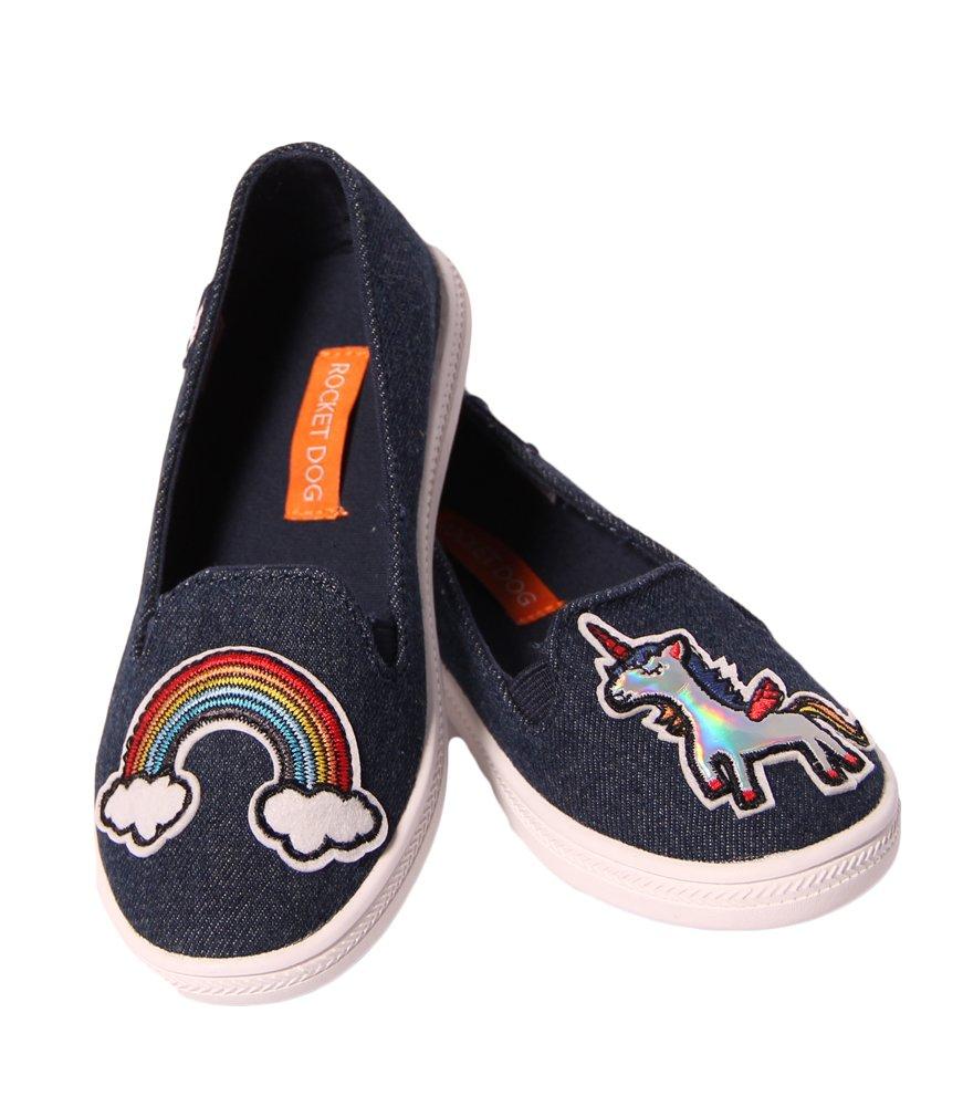 Rocket Dog Girl's, Popper Slip on Shoes Denim 3 M