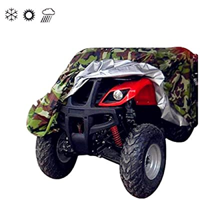 Tokept 190T Camouflage Quad Bike ATV ATC Rain WaterProof Cover XXL Size 88'' x 39.2'' x 42.4'': Automotive