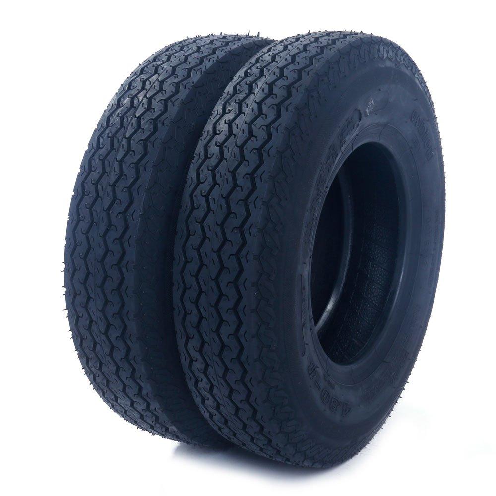 4.80/4.00-8'' Trailer Tire Load Range C 4 PR Bias Boat Tires 4.80-8 4.80x8 (Pack of 2)