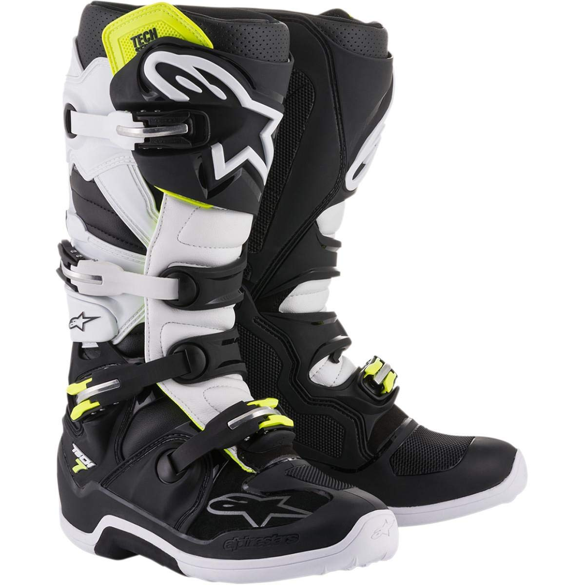 Alpinestars Tech 7 Boots-Black//White-11