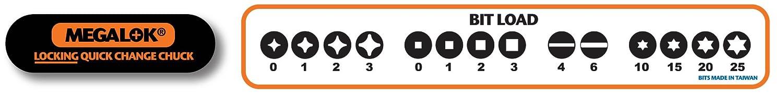 Megapro 181ML 14-In-1 MegaLok Driver Black Orange