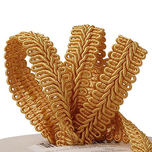 """Old Gold Gimp Braid Trim, 5/8"""" X 10yd"""