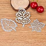Metal Cutting Dies, NXDA Embossing Dies Stencil Template for DIY Scrapbook Album Paper Card Craft Decoration (leaves)