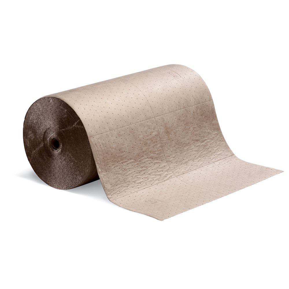 New Pig MAT525 Polypropylene Oil-Only Absorbent Mat Roll, 40.2 Gallon Absorbency, 300' Length x 30'' Width, Brown