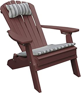 product image for Poly Folding and Reclining Fanback Adirondack Chair - Cherry Wood