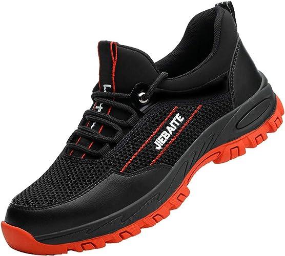 Zapatillas de Seguridad Mujer Hombre Ligero Antideslizante de Verano Transpirable Apatos de Trabajo Entrenador Unisex Zapatillas: Amazon.es: Zapatos y complementos