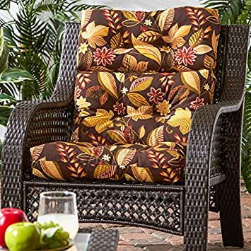 Greendale Home Fashions Indoor Outdoor High Back Chair Cushion, Timberland Floral