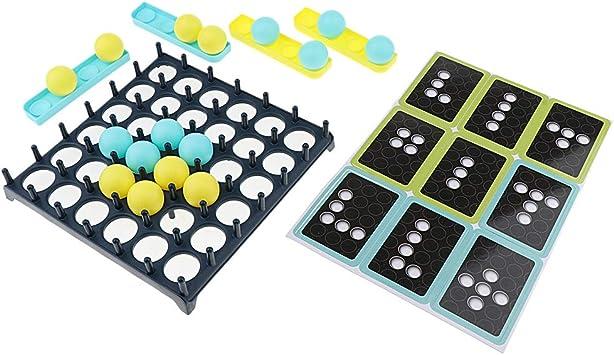 Baoblaze Juego de Pelota Juegos de Mesa Bounce Off Plastic Family ...