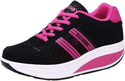 Zapatillas Mujer Running Zapatillas de Deporte de Moda Casual para Mujer Zapatillas de Deporte para Correr Zapatillas para Caminar Casuales Caminar Zapatos Exterior LiNaoNa: Amazon.es: Ropa y accesorios