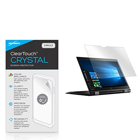 Lenovo Thinkpad X1 Yoga Screen Protector, BoxWave [ClearTouch Crystal] HD Crystal Film Skin to Shield Against Scratches for Lenovo Thinkpad X1 Yoga