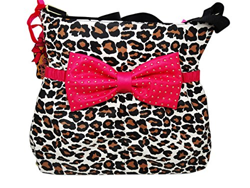 Betsey Johnson Cats Meow Bow Tie Diaper Bag Purse Shoulder - Michael Store Kor Locator